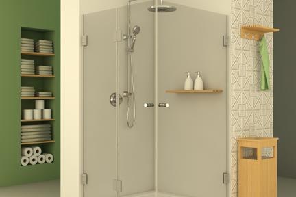 מקלחון פינתי מרובע M516. מקלחון פינתי מרובע