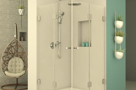 מקלחון פינתי מרובע M517. מקלחון פינתי מרובע