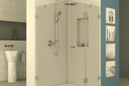 מקלחון פינתי מרובע M519. מקלחון פינתי מרובע