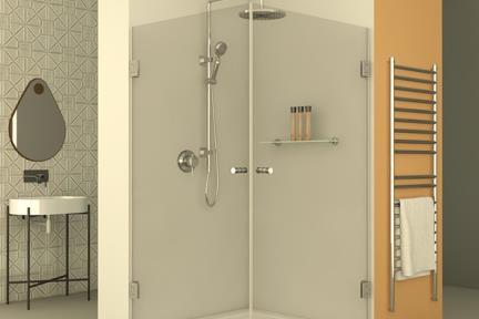 מקלחון פינתי מרובע M522. מקלחון פינתי מרובע