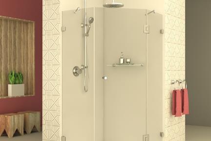 מקלחון פינתי מרובע M523. מקלחון פינתי מרובע