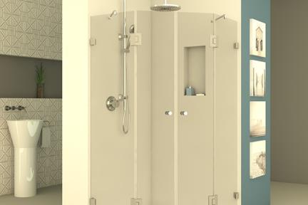 מקלחון פינתי מרובע M524. מקלחון פינתי מרובע