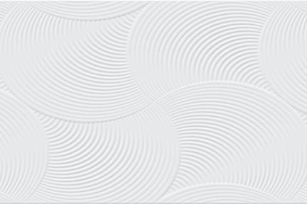 דגם 1012315. קרמיקה לבנה מורשת במעגלים.  גודל: 35*90